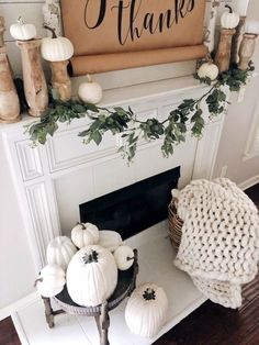 Fall Fireplace Decor, White Fireplace, Shiplap Fireplace, Fall Home Decor, Autumn Home, Fall Apartment Decor, Up House, Seasonal Decor, Holiday Decor