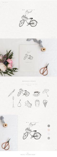 Modern Rustic Feminine Illustrations by Laras Wonderland on @creativemarket #creativemarket #graphicdesign #design #icon #logo #flowers #floral #female #inspiration #watercolor #watercolour #pattern #illustration #logodesign