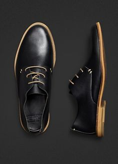 The quintessential black shoes - quiet enough to be dressy yet hinting at you for something a bit more casual ...