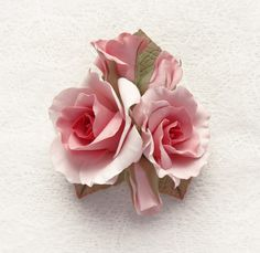 Just for YOU, my friend, on this gorgeous spring morning! (Rose brooch made from polymer clay!)