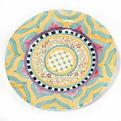Taylor Flat Rim Dinner Plate - Hitchcock Field | MacKenzie Childs