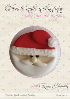 Santa Claus Christmas cupcake topper by Yumyumcakesandbakes