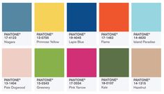 Fashion Styles and Trends >> Pantone Spring 2017 Color Forecast is here...