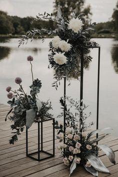 Wedding Centerpieces, Wedding Decorations, Flower Decorations, Tall Centerpiece, Wedding Designs, Wedding Styles, Black And White Wedding Theme, Black Wedding Decor, Floral Wedding
