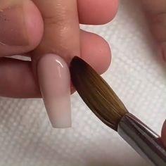 This nail refilling video is so satisfying 😍😍 Credits: Acrylic Nails At Home, Cute Acrylic Nails, Cute Nails, Nail Art Designs Videos, Nail Art Videos, Nail Designs, Polygel Nails, Diy Nails, Nail Extensions Acrylic