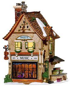 more cute Christmas village houses