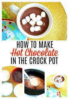 Crock Pot Hot Chocolate Recipe - Momma LewYou can find Crock pot hot chocolate recipe and more on our website. Crock Pot Hot Chocolate Recipe, Hot Chocolate Recipes, Canning, Website, Breakfast, Food, Morning Coffee, Essen, Meals