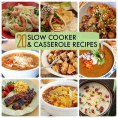 20  slow cooker and casserole recipes