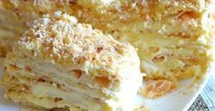 Home Napoleon - a recipe that never failed! Sweet Desserts, Sweet Recipes, Cake Recipes, Dessert Recipes, Ukrainian Recipes, Russian Recipes, Tatyana's Everyday Food, Napoleon Cake, Russian Cakes