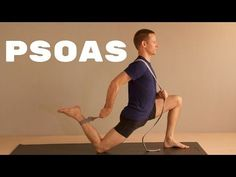 Hip Flexor Stretches: Hip Flexor Stretch: Psoas / Hip Flexor Stretch - A. Psoas Stretch, Muscles Of The Neck, Stretches For Runners, Hip Stretches, Yoga Exercises, Psoas Release, Tight Hamstrings, Muscle Imbalance, Psoas Muscle