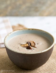 Cream of Mushroom Soup / SimplyRecipes.com