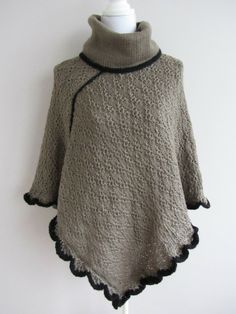 Poncho Hilly in taupe