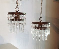 lampara colgante caireles vintage cod.041 apto led e-27