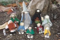 Lord of the Rings Felt Figures by FiddleEarth on Etsy, $125.00