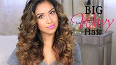Big Wavy Hair Tutorial + Give-a-way! The best tutorial for wavy hair! Big Wavy Curls, Big Wavy Hair, Curly Hair, Voluminous Curls, Soft Curls, Thick Hair, Wavy Hairstyles Tutorial, Curled Hairstyles, Pretty Hairstyles