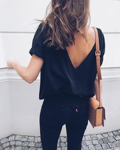 super cute | all black, low back, low v, everyday fashion inspiration, casual, everyday, day to night, date outfit, minimalist, minimalism, minimal, simplistic, simple, modern, contemporary, classic, classy, chic, girly, fun, clean aesthetic, bright, white, pursue pretty, style, neutral color palette, inspiration, inspirational, diy ideas, fresh, street style, on point, trendy, on trend, glam, tousled, boho, stylish, 2018, sophisticated