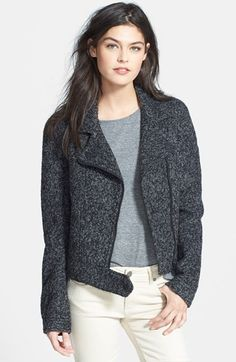 Paige Denim 'Julian' Knit Moto Jacket available at #Nordstrom