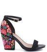Sandália Floral Negro