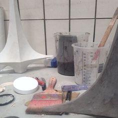 Making concrete for Vase #1