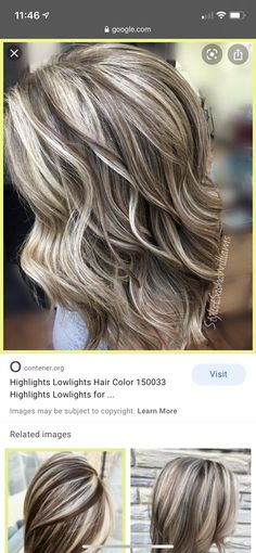 Ashy Blonde Hair, Wavy Hair, New Hair, Brown Hair With Blonde Highlights, Hair Color Highlights, Medium Hair Styles, Short Hair Styles, Hair Colors, Colours