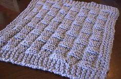 Grandma's knitted washcloths