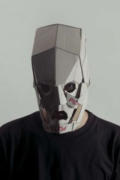 Cardboard Animal Masks - The Jozef Mrva Masks Are Eerie and Creatively Crafted (GALLERY) This is a perfect Inspiration for the GCSE question on Disguises Cardboard Animals, Cardboard Mask, Headdress, Headpiece, No Face, Head Mask, Photocollage, Animal Masks, Masks Art