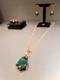 #zawieszka #szmaragd #perłahodowana #srebro #biżuteriaartstystyczna #biżuteriaautorska #margotstudio