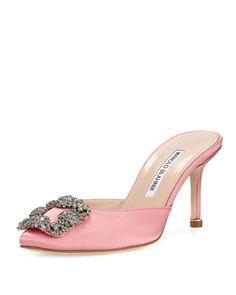 f0f36db1 Hangisi Satin Mule Pump, Pink Zapatos Bonitos, Zapatos De Mujer, Zapatos De  La