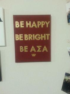 Kate Spade inspired ASA canvas! #KateSpade #AlphaSigmaAlpha #ASA #Sorority…