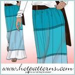Tropicana Maxi Skirt Pattern - FREE PDF pattern download by HotPatterns.com available at http://www.fabric.com/creativity-headquarters-free-pattern-downloads-tropicana-maxi-skirt-pattern.aspx