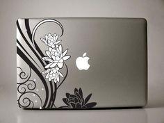 Floral Decal Laptop sticker mac decals macbook by williamandcindy. $11.99 USD, via Etsy.