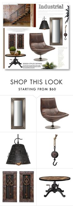 """""""Industrial"""" by signaturenails-dstanley ❤ liked on Polyvore featuring interior, interiors, interior design, home, home decor, interior decorating, Sterling, Casa Cortes and Home Decorators Collection"""