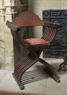 Folding Armchair ~ late 15th or early 16th century ~ Italian ~ Walnut ~ Metropolitan Museum of Art