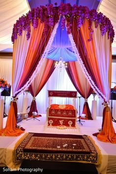 This traditional Sikh ceremony is a beautiful affair with a lovely mandap. @ The Chattanoogan Hotel