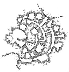 During a discussion about maps on non-standard graph paper (triggered by a circular map drawn on polar graph paper), someone brought up a Smith Chart and indicated that they would be interested in . Fantasy City, Fantasy Map, Medieval Fantasy, Smith Chart, Dungeon Maps, Dungeon Tiles, Map Sketch, Map Layout, Star Wars Episode Iv
