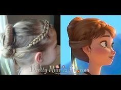Anna's Coronation Hairstyle from Disney's FROZEN - by Pretty Hair is Fun. - Anna's Coronation Hairstyle from Disney's FROZEN – by Pretty Hair is Fun. Anna's Coronation Hairstyle from Disney's FROZEN – by Pretty Hair is Fun. Frozen Hairstyles, Princess Hairstyles, Flower Girl Hairstyles, Little Girl Hairstyles, Pretty Hairstyles, Anna Hair Frozen, Toddler Hair, Hair Blog, Doll Hair