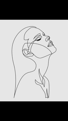 Single line face drawing. One line Face illustration. Beautiful line art for wall décor. Black and white pastel. Minimalist Drawing, Minimalist Art, Aesthetic Drawing, Aesthetic Art, Doodle Art, Outline Art, Deep Art, Art Drawings Sketches, Doodle Drawings