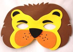 Childrens Lion Face Mask Party Loot Bag Toy Wild Animal Jungle Birthday Party