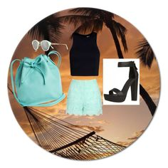 Mint summer. by rozka-somerholics-matejkova on Polyvore featuring polyvore fashion style T By Alexander Wang Jane Norman Mint & Rose River Island