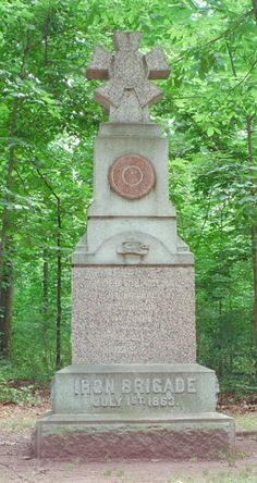 """2nd Wisconsin Volunteer Infantry Regiment, """"Iron Brigade"""", 1st Brigade, 1st Division, 1st Army Corps, Army of the Potomac."""