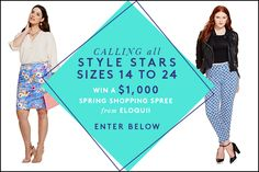Win A Spring Wardrobe From Friends At Eloquii And Thing 1, Shopping Spree, Your Shoes, Star Fashion, Fashion Forward, Boho Chic, Fun Stuff, Spring Fashion, Coupons