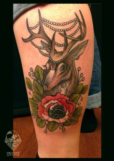 Deer #deer #deerattoo #animaltatttoo #cute #onedge #neotraditional #oldschool #basia #barbaramunster