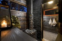 Atmospheric cottage sauna. #Honka