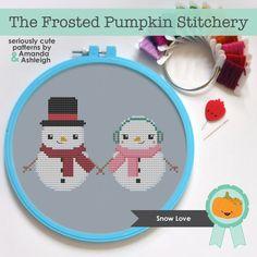 Snow Love PDF Pattern  by The Frosted Pumpkin Stitchery