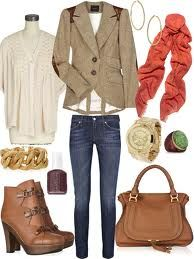 fall outfit, like the jacket and my brown boots