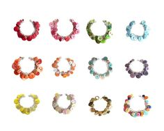 Button Charm Bracelet Any Color/Combo Upcycled by LovesParisStudio, $28.00