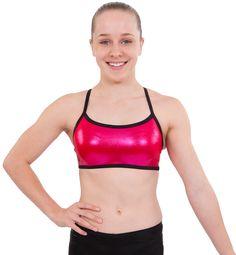 Fushia Basic Crop Top by Sylvia P $23AUD #sylviapgym #gymnastics #croptops