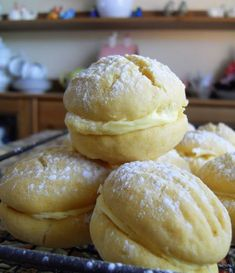 The English Kitchen: Custard Buttons Sandwich two cookies together and . stuff them in your mouth.these look delicious! Read Recipe by superstarletmom Tea Cakes, Wrap Recipes, Sweet Recipes, Cookie Desserts, Cookie Recipes, Custard Desserts, Biscotti, Def Not, English Kitchens