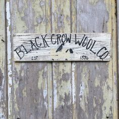 Black crow wool company, primitive hand painted signs, wood signs, hand lettered signs, hand painted signs, Sheep and Crow Signs by ParkerStPrimitives on Etsy