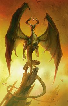 Nicol Bolas, dragon planeswalker from magic: the gathering